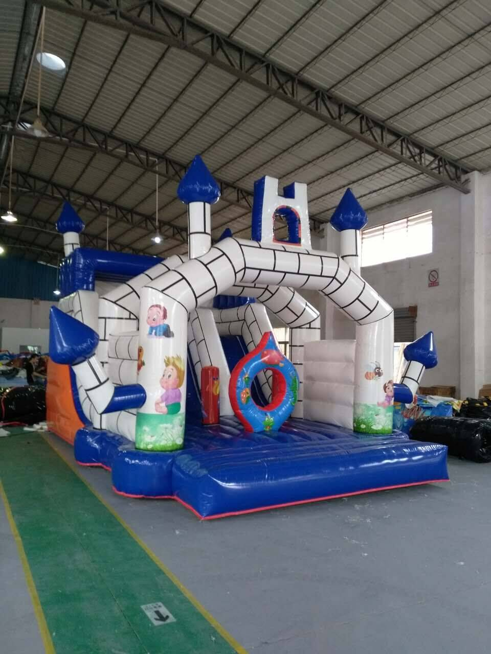 Inflatable bouncer with America standard