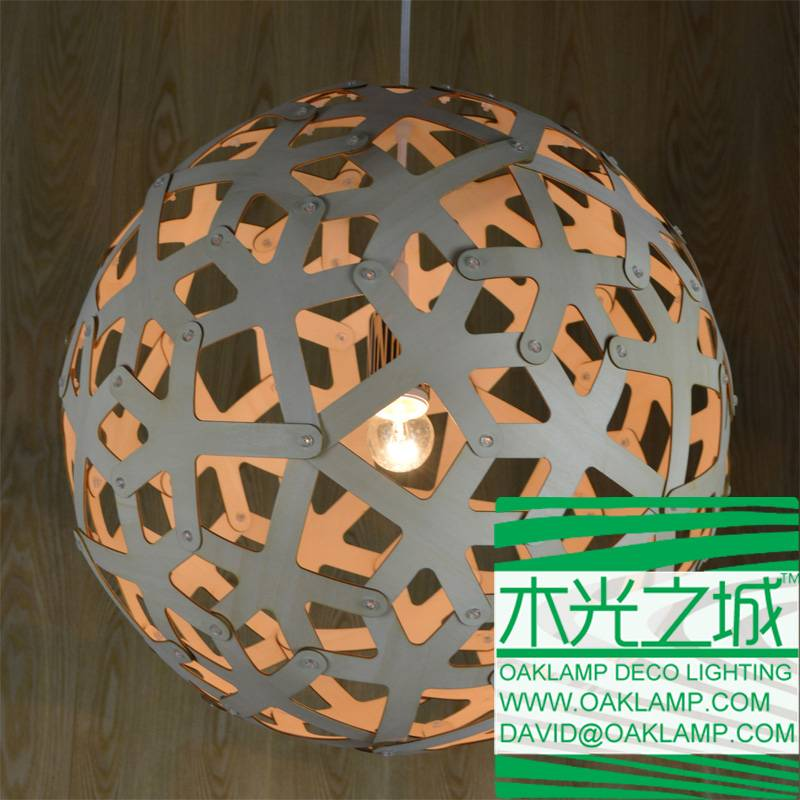 latest design wood pendant lamp made from real plywood