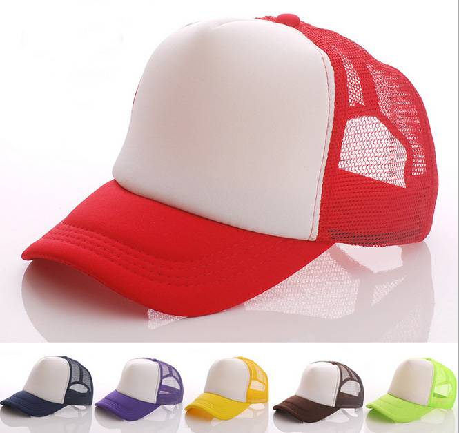 Cheap Colorful Plain 5 Panel Foam Mesh Trucker Cap With Custom Brand Logo