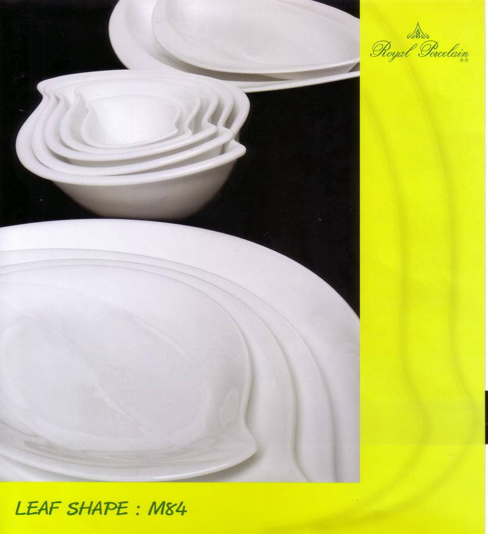 Porcelain Dinnerware (M84-Leaf)