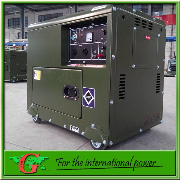 5Kw silent diesel generator 50Hz 220v single phase from GBR company