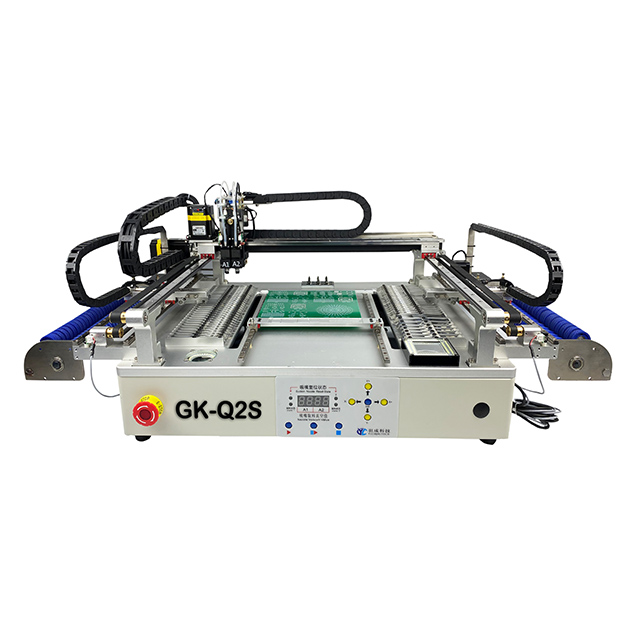 Ginkgoem desktop cheap Pick and Place Machine for SMT with replacing 6nozzles automatic and 69feeder