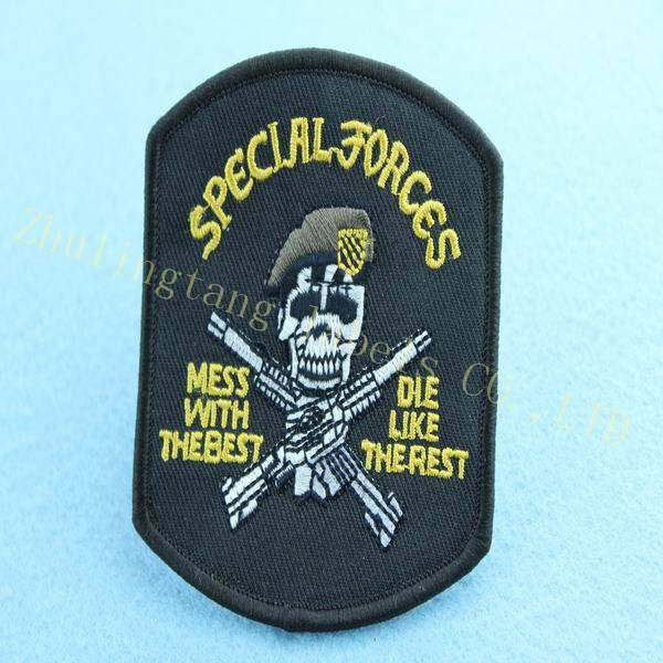2014 custom army embroidery patches China direct manufacture