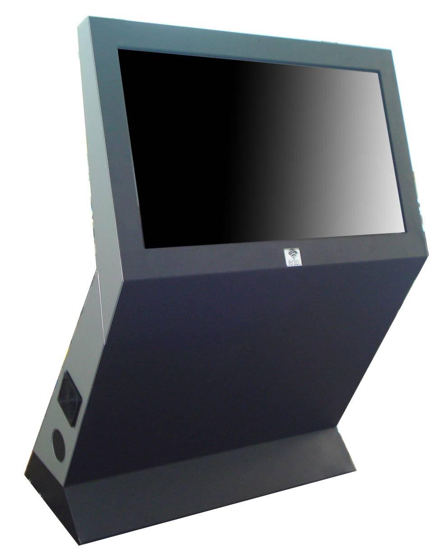 D1 Floor mounted securities information broadcasting digital signage