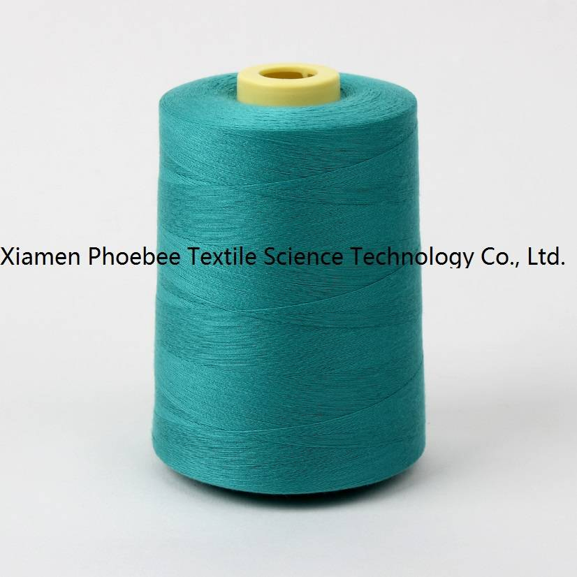Color Blue 100% polyester sewing thread 20/2