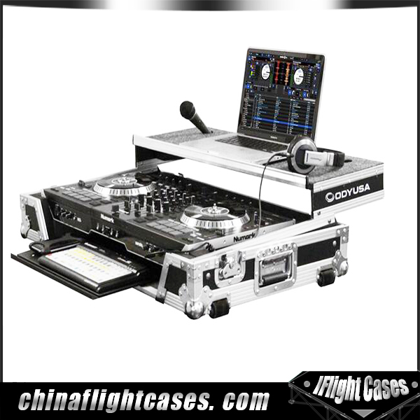 DJ Midi Controller Fireproof with Computer laptop Tray flight case