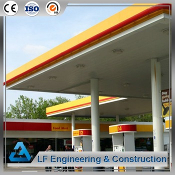 China supplier cheap space frame prefabricated petrol station