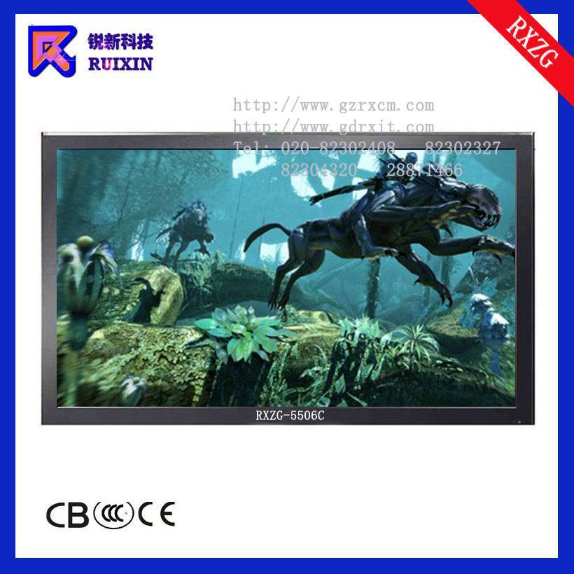 RXZG-5506C LCD monitor with PC and TV