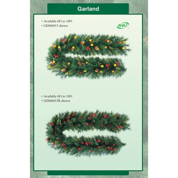 Traditional christmas wreaths with decoration