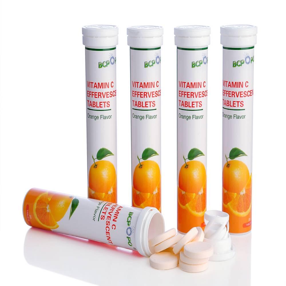 GMP Certified OEM Vitamin C Effervescent Tablet Manufacturer