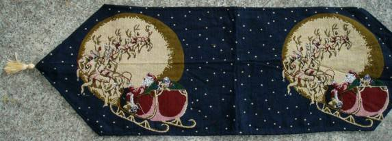 christmas jacquard table runner