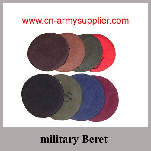 Wool Polyester Nylon Police Army Military Beret