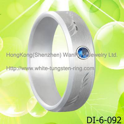 Platinum Plated White Tungsten Ring for Wedding Hot Sales