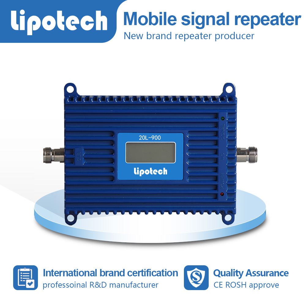 Small model with lcd screen single band mobile signal repeater