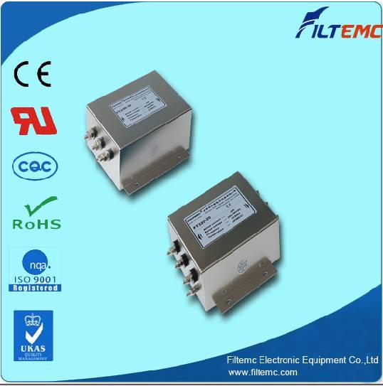 AC 3-phase 3-line 2 stage filter/EMI filter