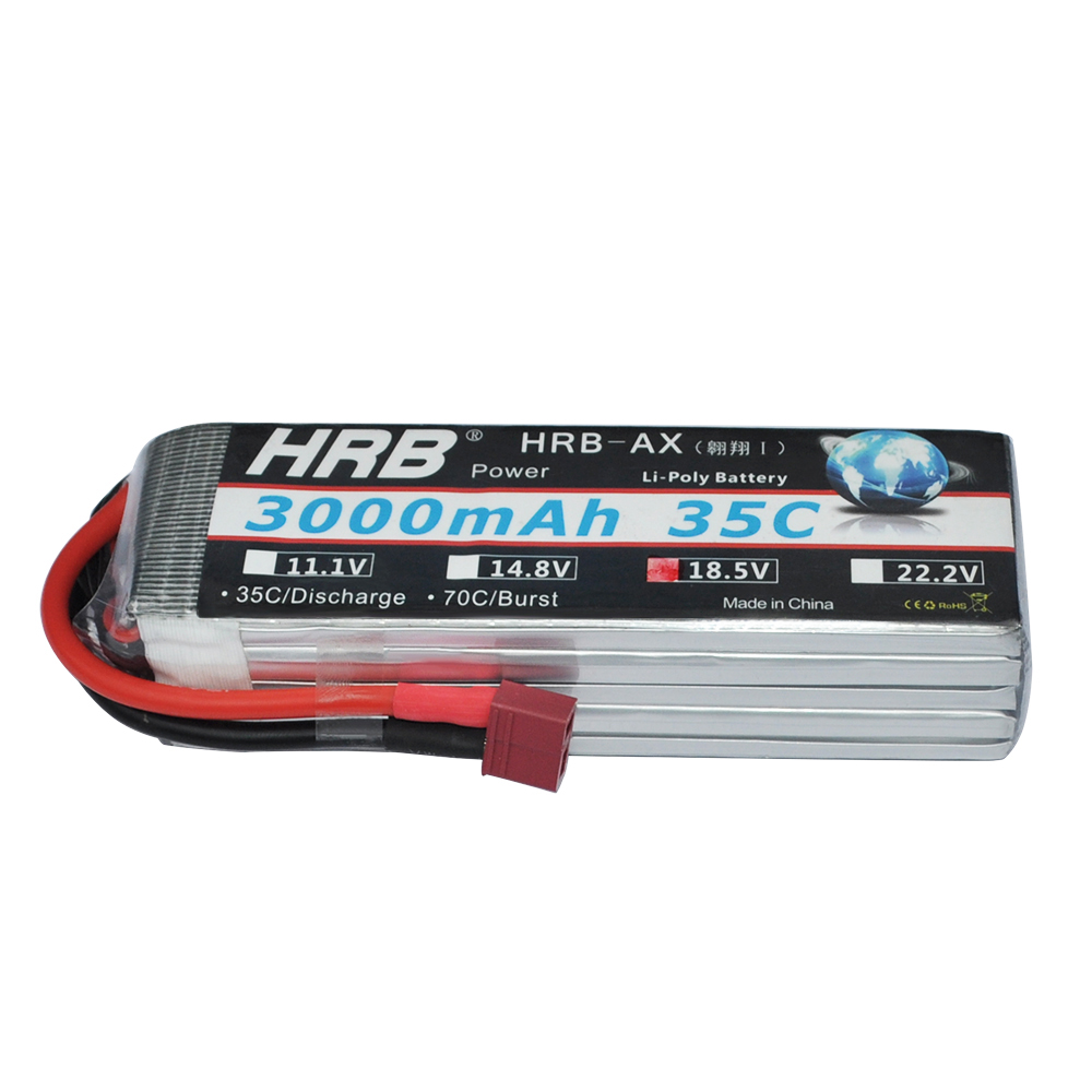 HRB 18.5V 3000MAH 5S 35C MAX 70C Lipo Battery Hard Case for RC Traxxas Car Helicopter