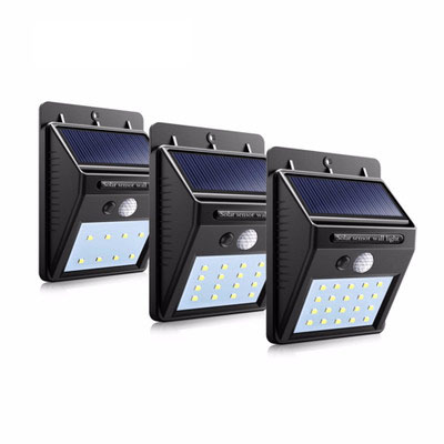 solar led light led motion sensor wireless wall lamp waterproof ip65 garden yard lighting