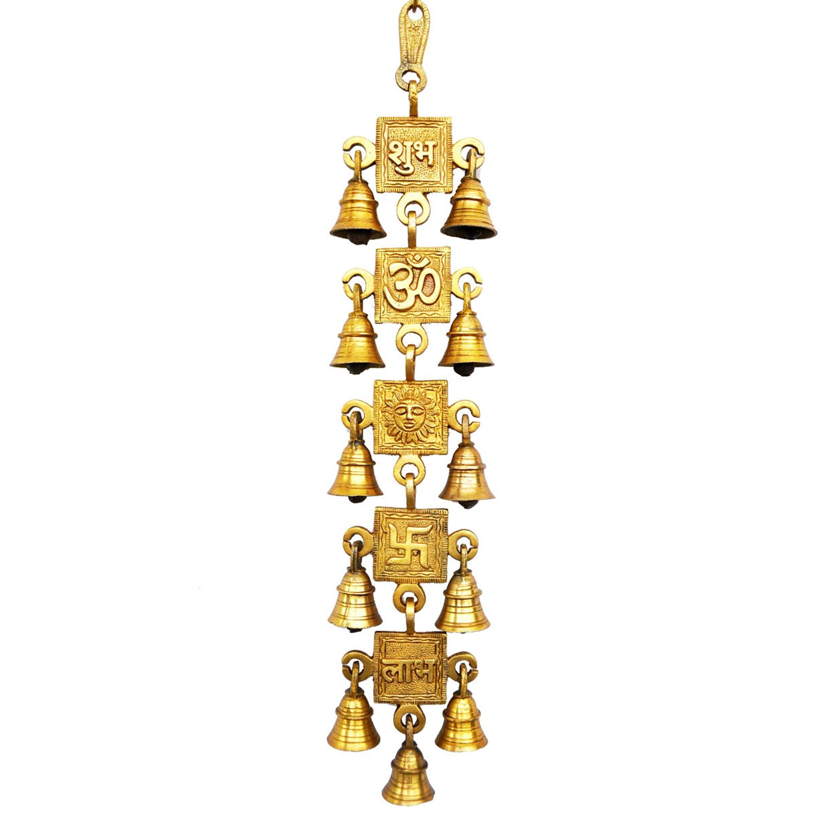 Religious Decor Brass Metal Wind Chim Bells