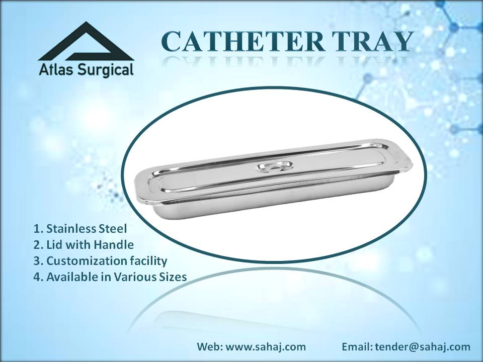 Catheter Tray Stainless Steel with Lid