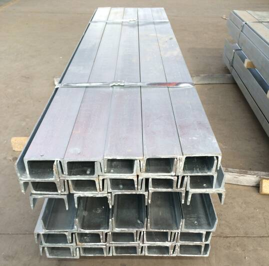 Hot dipped galvanized steel C channel