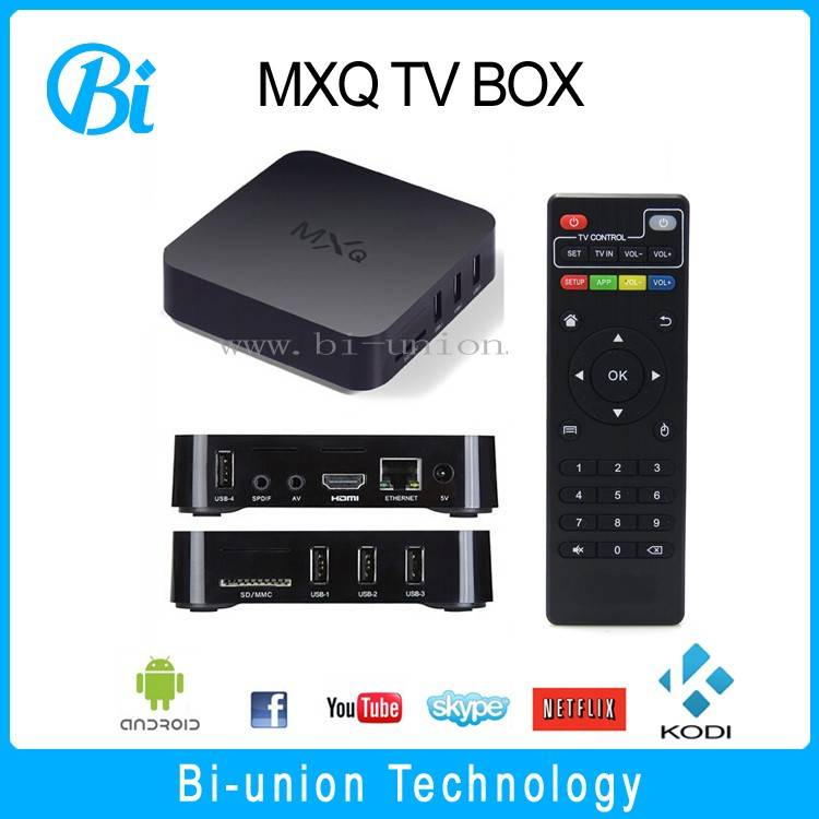 mxq tv box andorid 4.4 ott tv box s805 smart tv box
