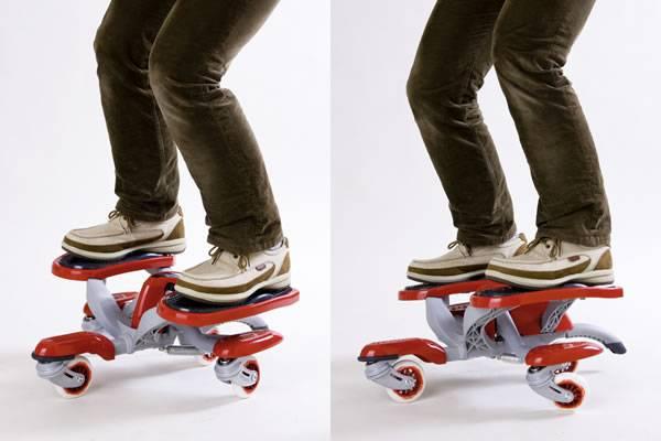 Eaglider skateboard, four wheels, CE approval