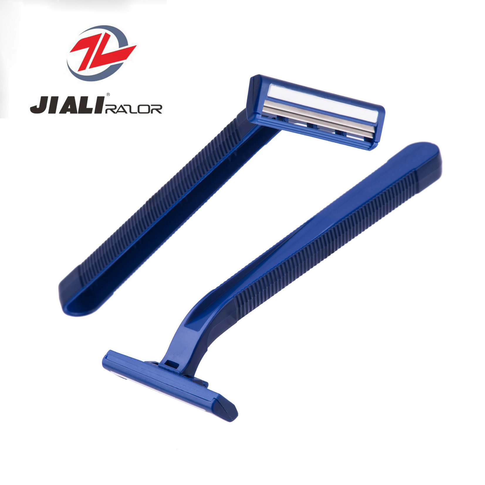 Twin Blade Disposable Razor with Lubricant and Stainless Steel Blade