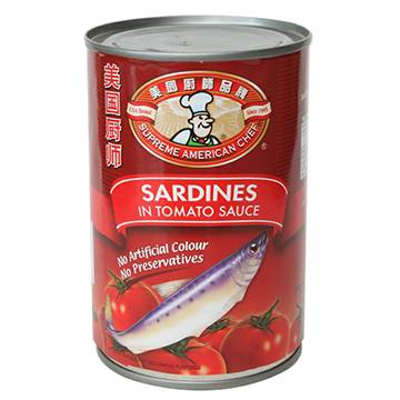 155g canned sardines in tomato sauce