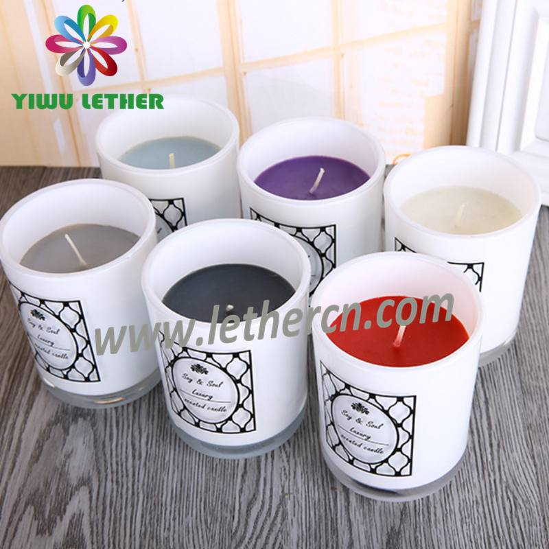 Home Decoration Filled Wax Personalized Soy Paraffin Glass Jar Scented Candles