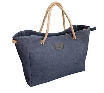 Large Cotton Canvas Handbag for Shopping Rope Tote, Kuoser Women Tote and Shoulder Bag
