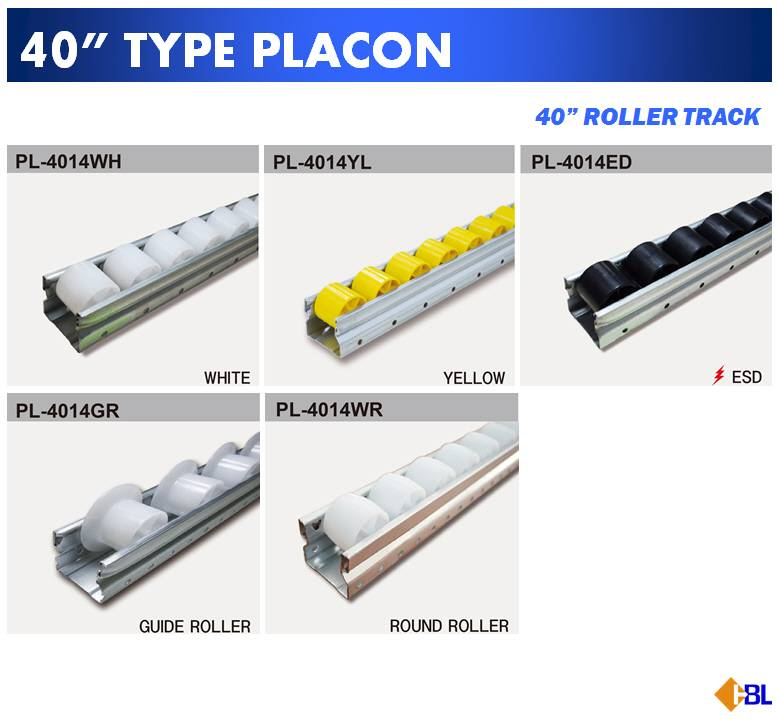 "40"" type roller track / Placon"
