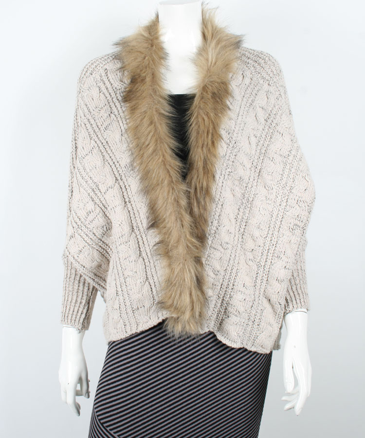 Ladies Latest Design Cable Knitted Winter Cardigan