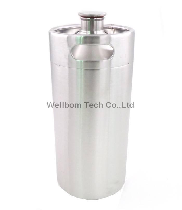 3.6L stainless Mini keg Growler wine pot Beer Growlers Unbreakable Homebrew Carbonating
