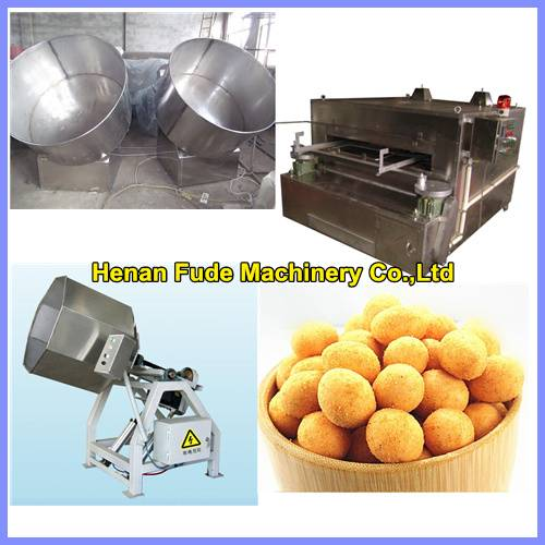 Flour coated peanut processing machine