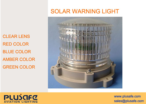 Portable Magnetic Base Solar Aviation Warning Light 1KG Weight With ON/OFF Switch
