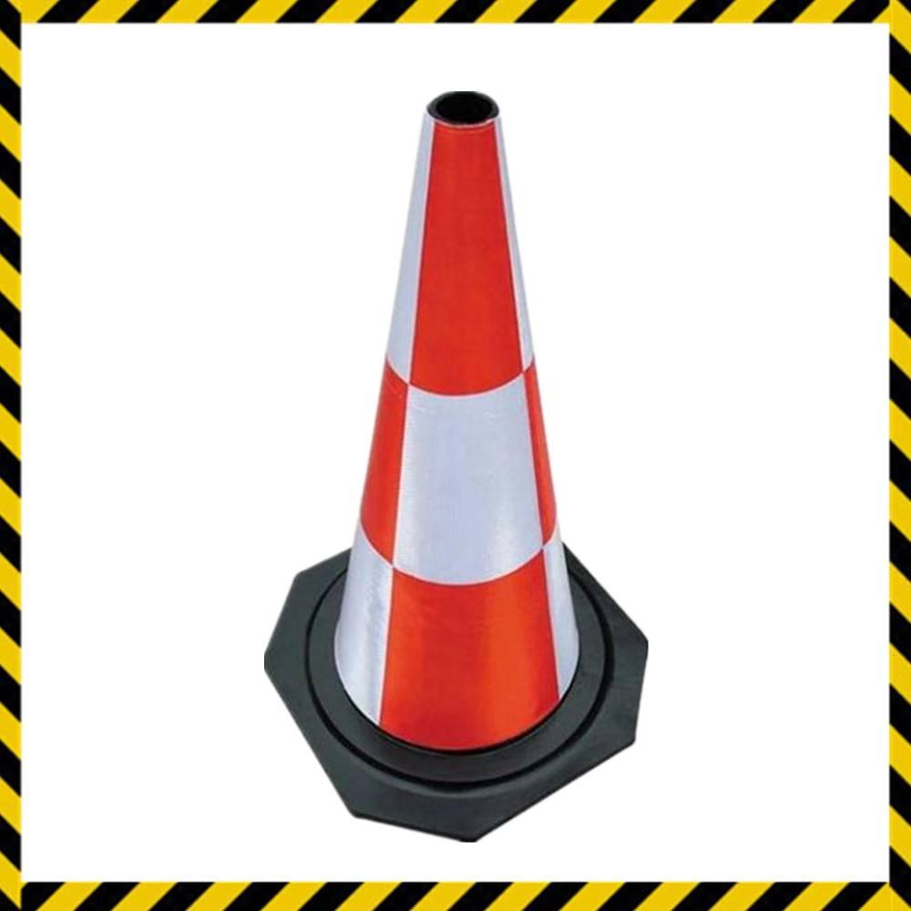 rubber reflective road traffic cone