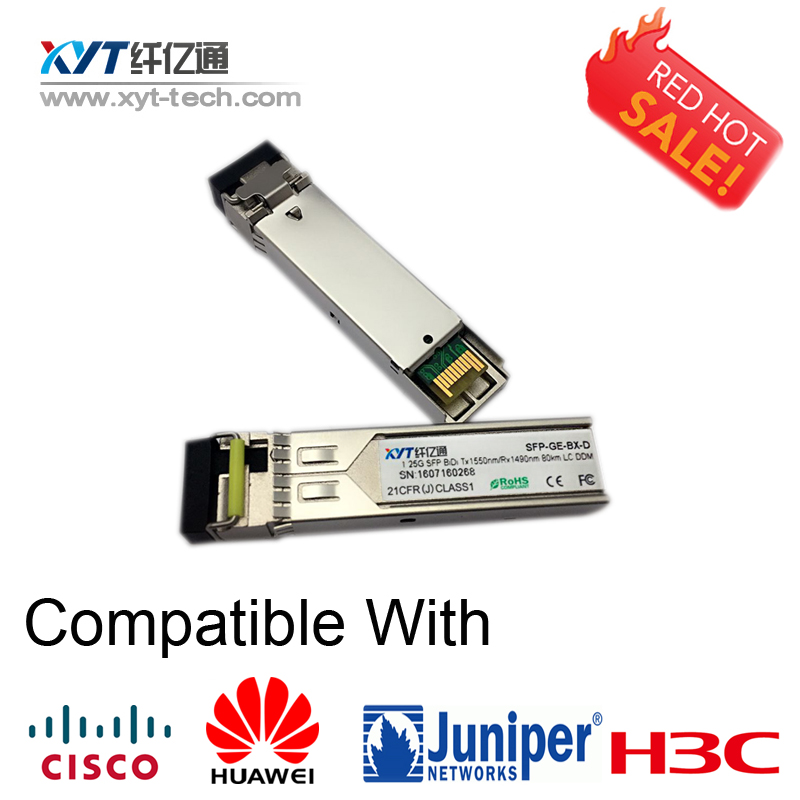 BIDI-1.25G-1490/1550nm-80km-LC-DDM Small Form Factor Pluggable fiber optic transceiver