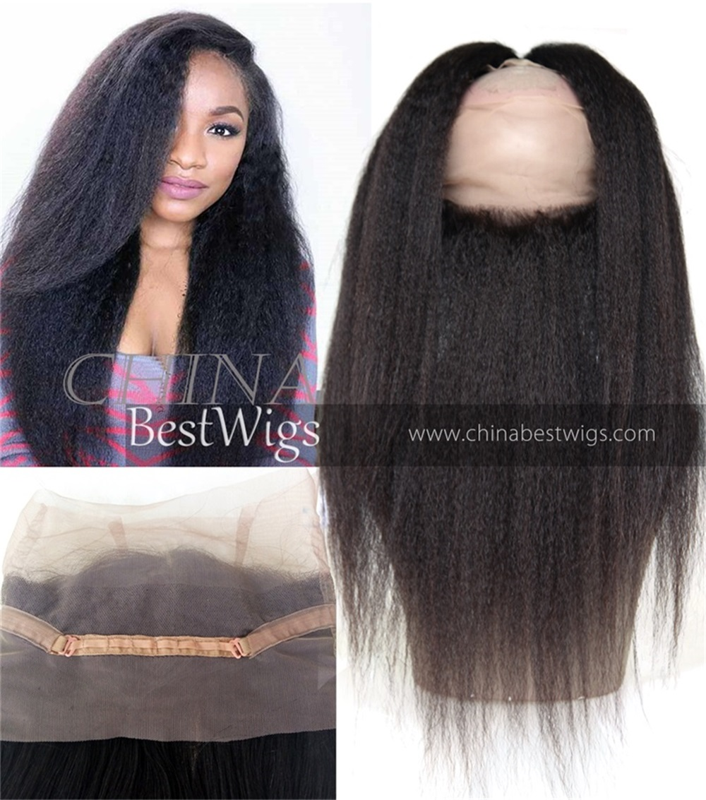 kinky straight 360 hair frontal