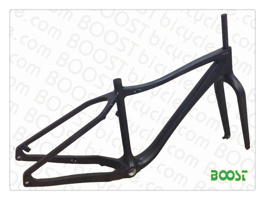 carbon fatbike snowbicycle frames Thru AXEL Disc brake Fat bike(26')Max 4.7'tyre FM011