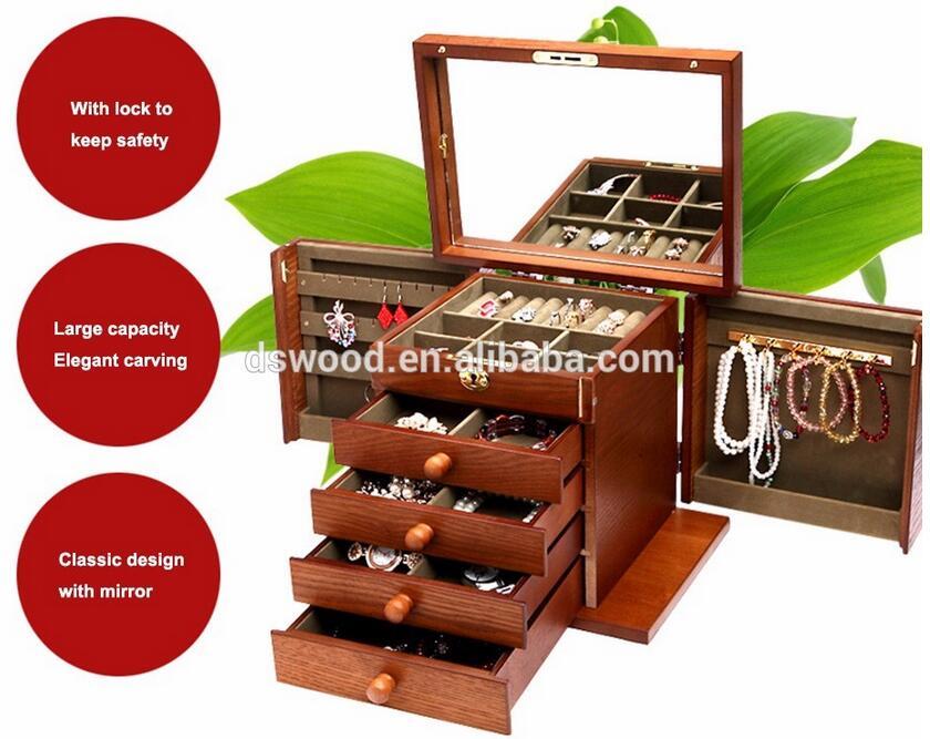 2017 new design wood jewelry box wholesale