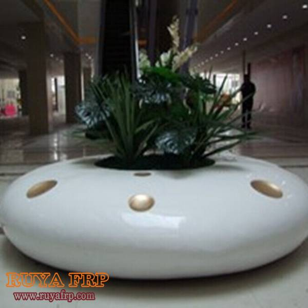 Big round planter chair interior shopping mall public place furniture planting pot