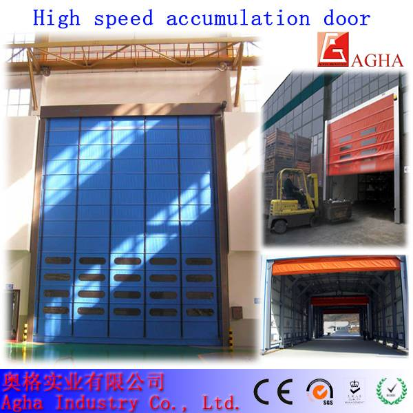 High speed stacking door, fast door, pvc door