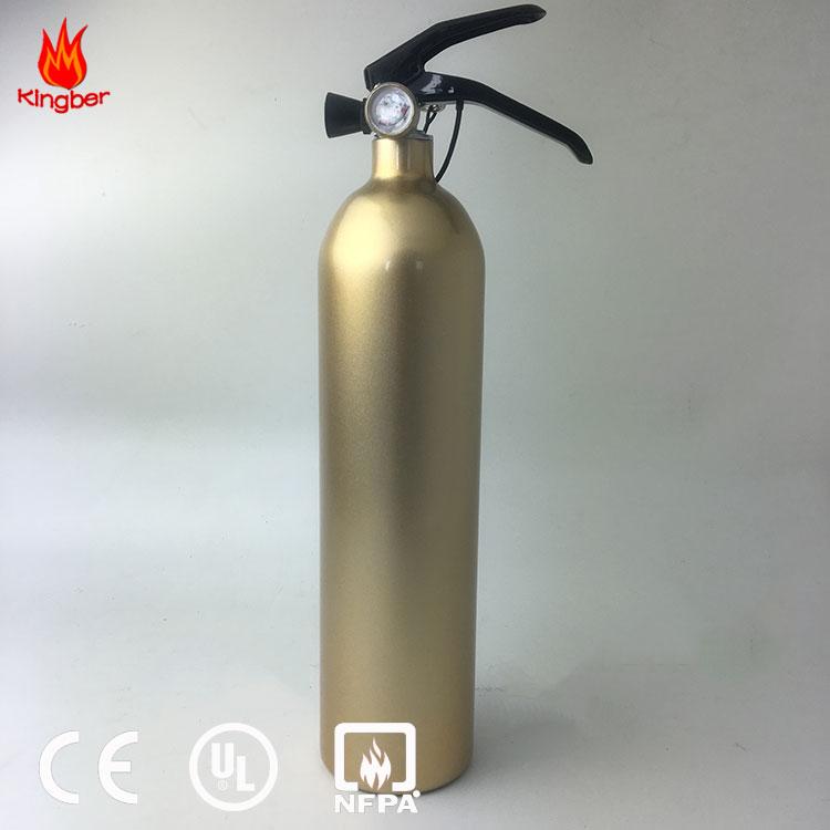 1kg Portable Golden Color Dry Powder Foam Aluminum Alloy Fire Extinguisher For Warehouse Using