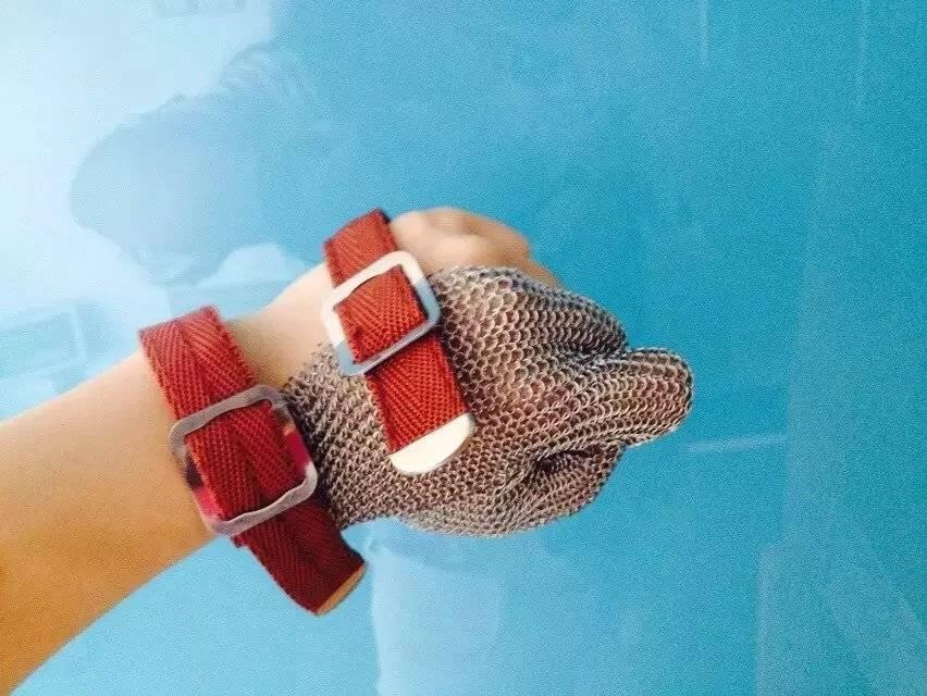 Stainless steel mesh glove steel finger glove