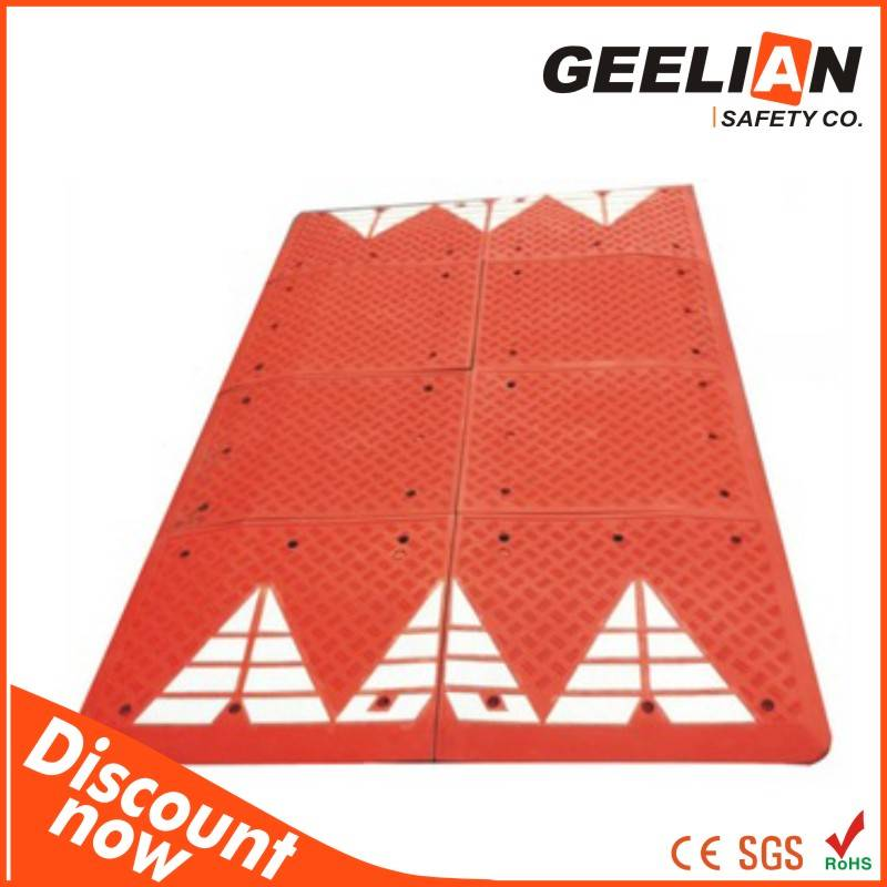Driveway rubber road speed humps factory price traffic rubber speed hump