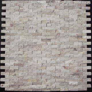 Travertine splitface mosaic