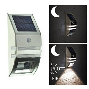 Hot-Sellling Stainless Steel Great Garden Alley Solar Sensor LED Security Wall Lights
