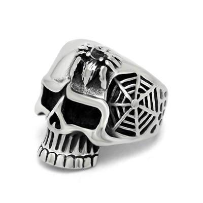 Wholesale SKULL  skeleton stainless steel rings with Rock&Punk style