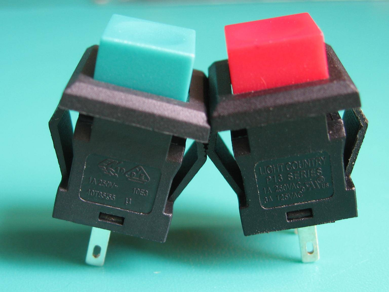 P13 series push button switch with UL VDE ENEC