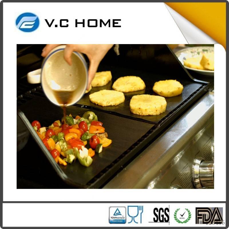 As seen on TV Hot Sale 2016 Reusable new style food grade fire retardant bbq grill mat